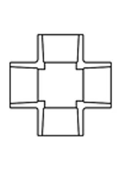 PV42014-Lasco 1¼ Sch40 Cross Slip x Slip x Slip x Slip