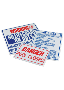 R230300-Pentair R230300 Spa Rules Pool Sign