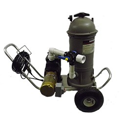 ProVacCart1000 PROVACCART Portable Vacuum System 1 Hp Pump With 90 Sq Ft  Cartridge Filter Plumbed On Vac Cart With GFCI