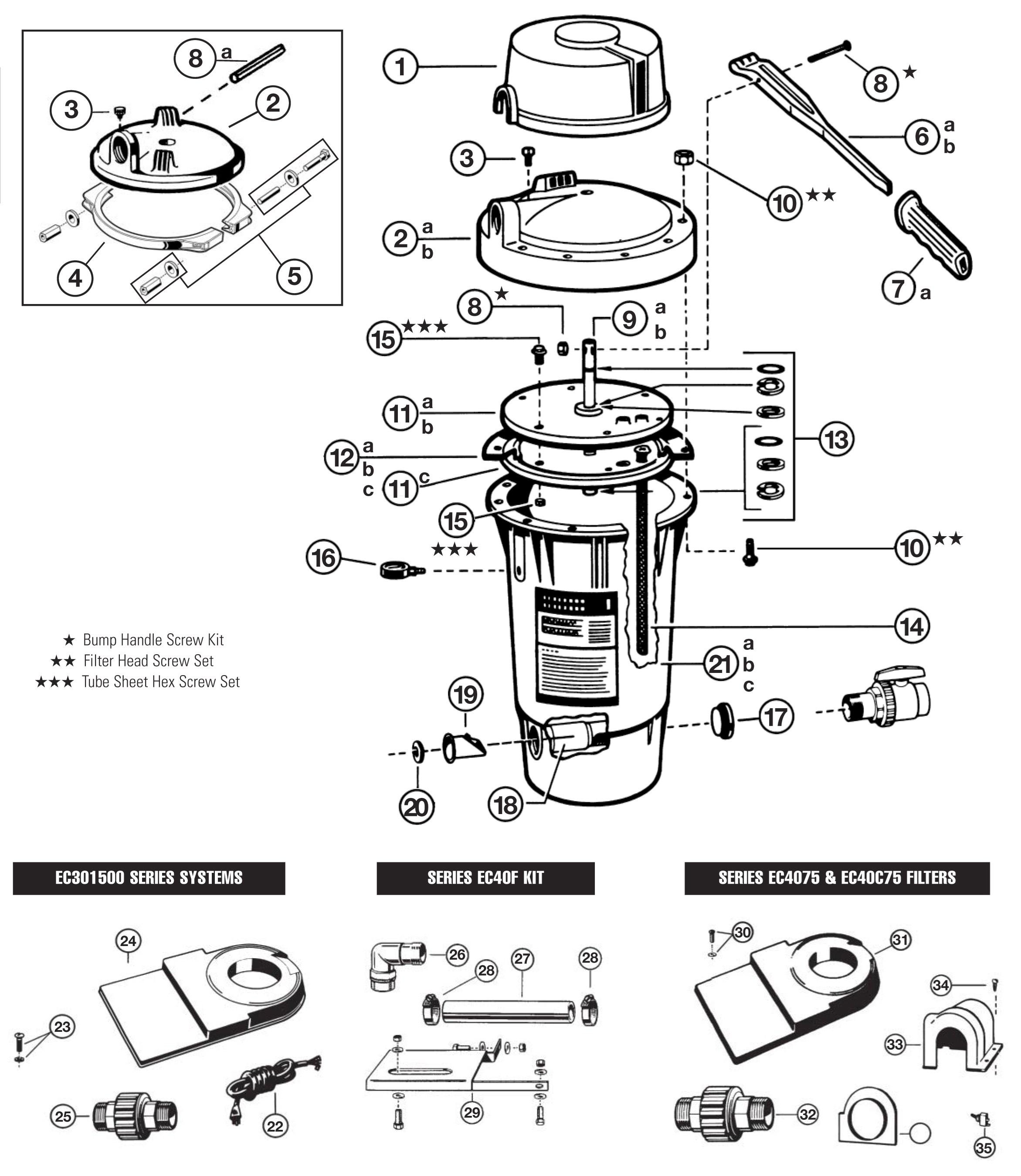 Hayward EC1161PAK Platform Base with Screws for Perflex DE Filter